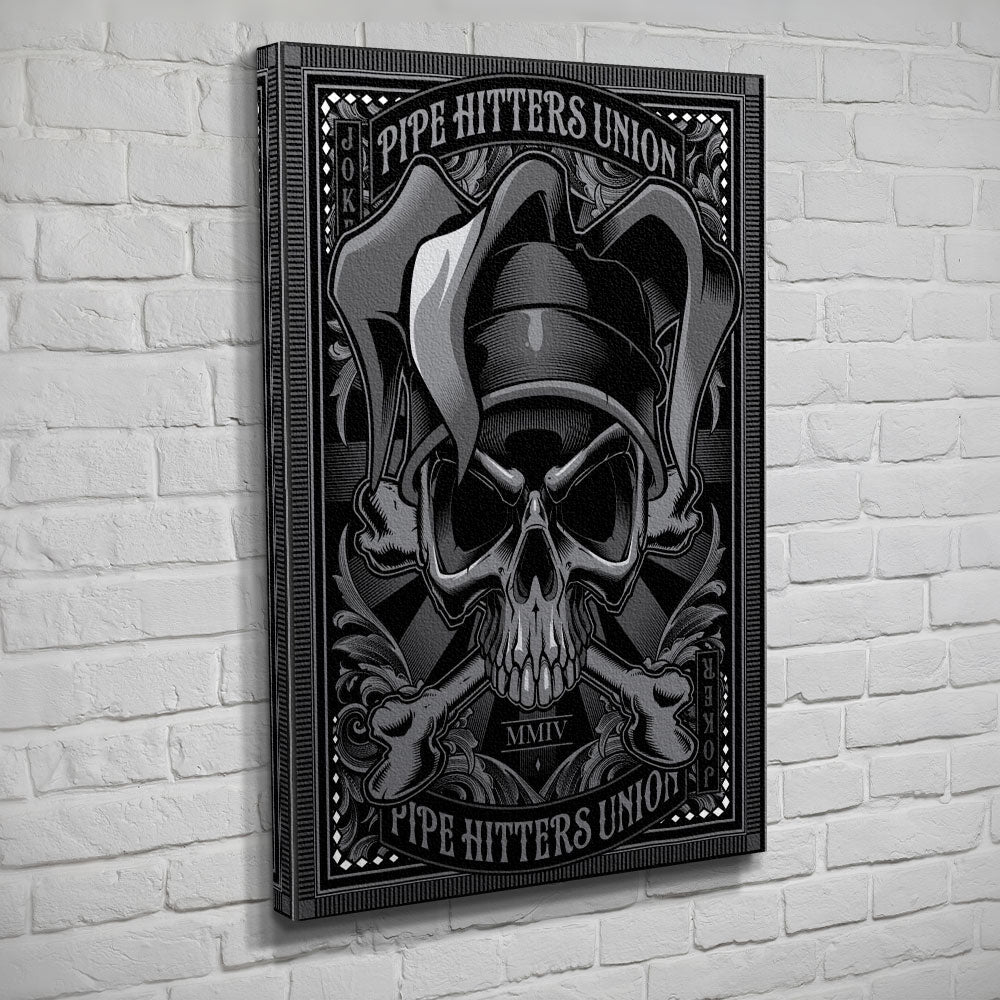 Death Card - Joker - Canvas - Black/Grey - Canvas - Pipe Hitters Union