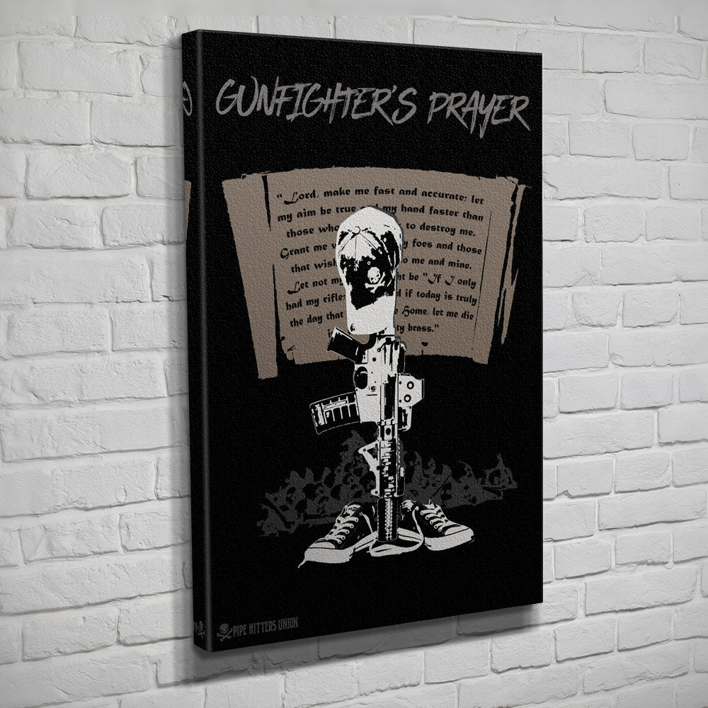 Gunfighter's Prayer - Canvas - Black - Canvas - Pipe Hitters Union