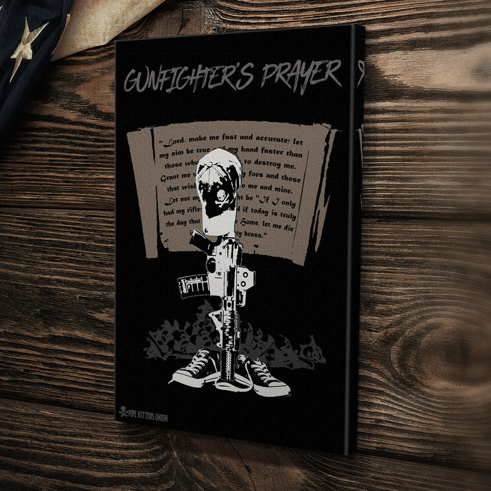 Gunfighter's Prayer - Canvas -  - Canvas - Pipe Hitters Union