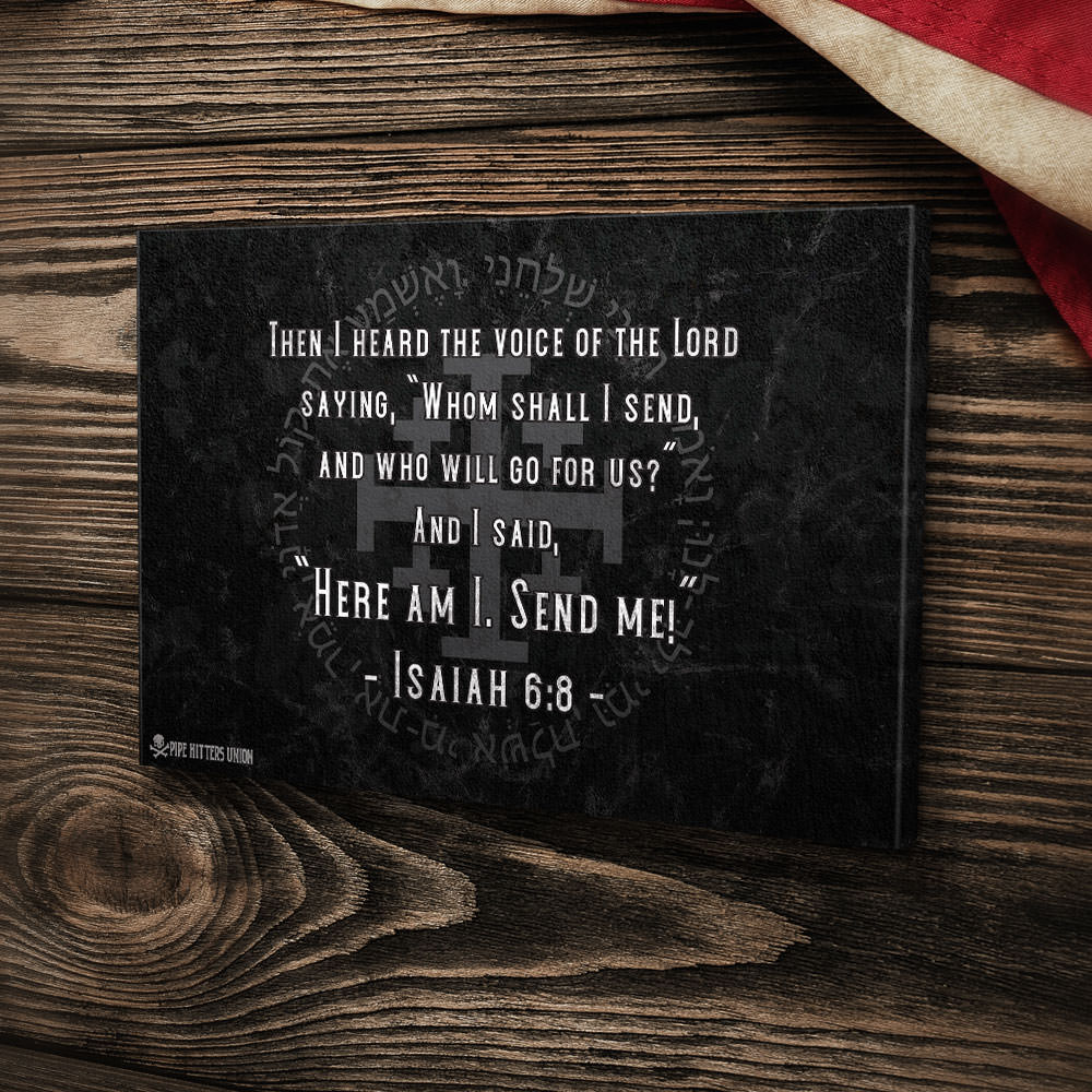 Isaiah 6.8 - Canvas -  - Canvas - Pipe Hitters Union
