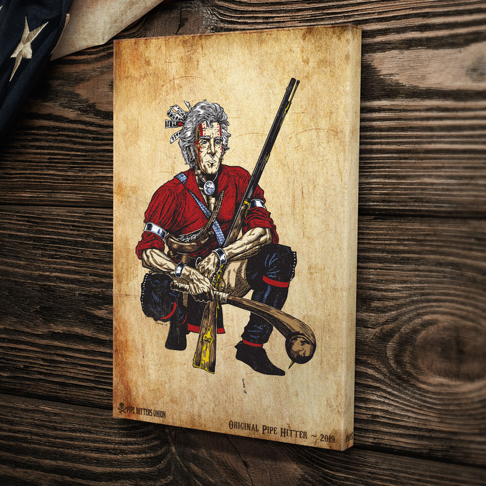 Original Pipe Hitter - Andrew Jackson - Canvas -  - Canvas - Pipe Hitters Union
