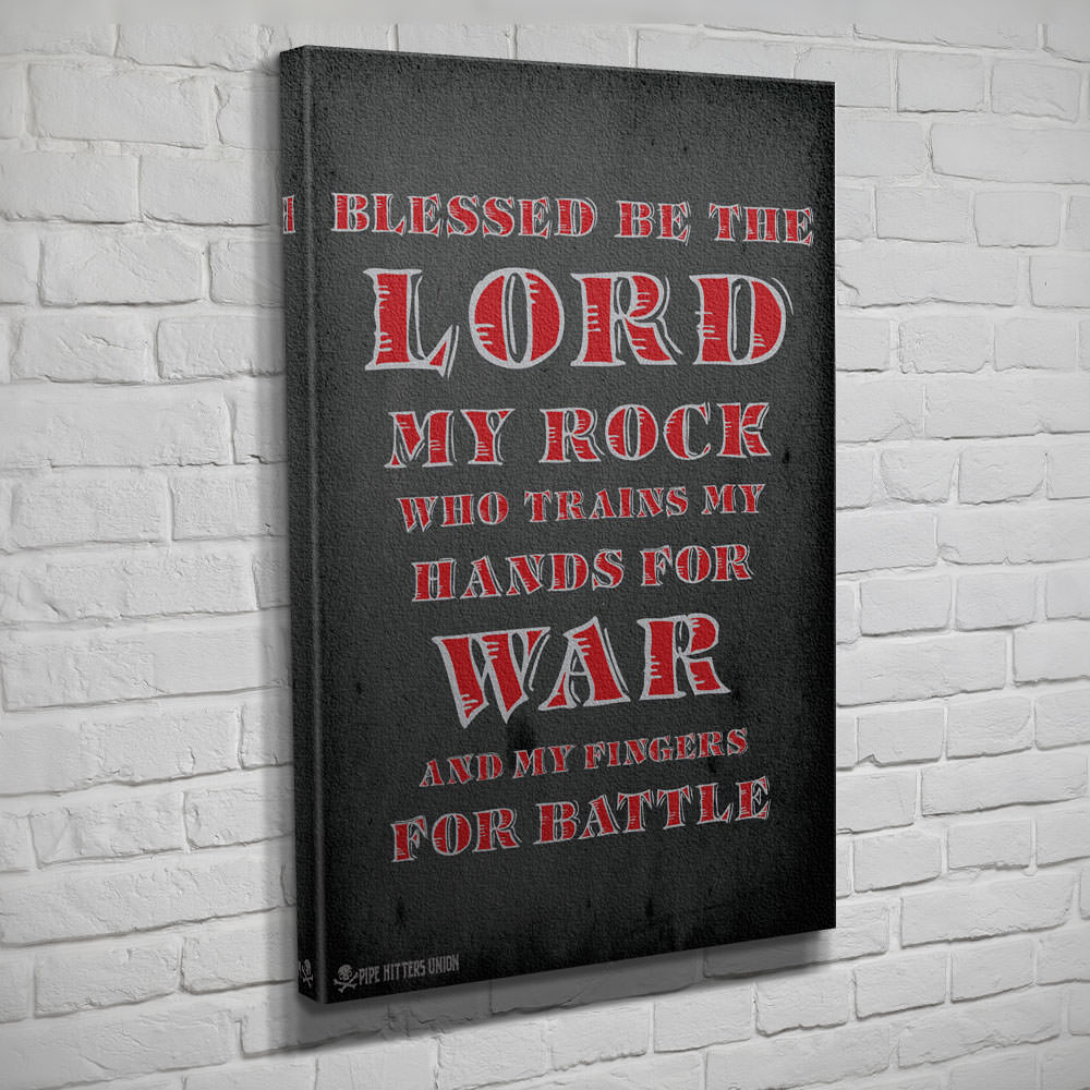 Psalm 144.1 - Canvas - Grey - Canvas - Pipe Hitters Union