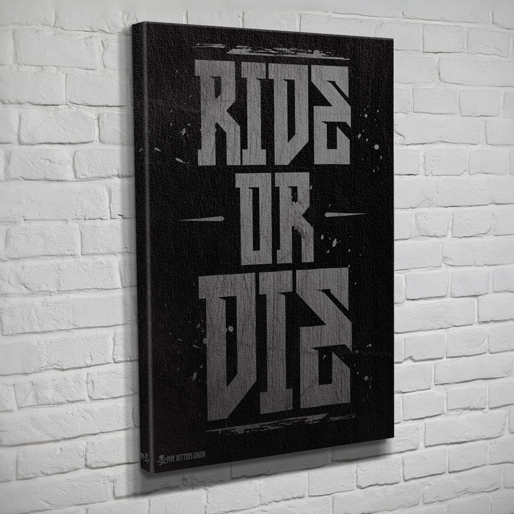 Ride or Die - Canvas - Black/Grey - Canvas - Pipe Hitters Union