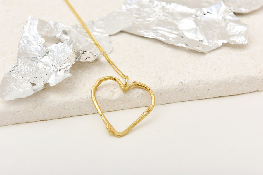 Twig heart necklace