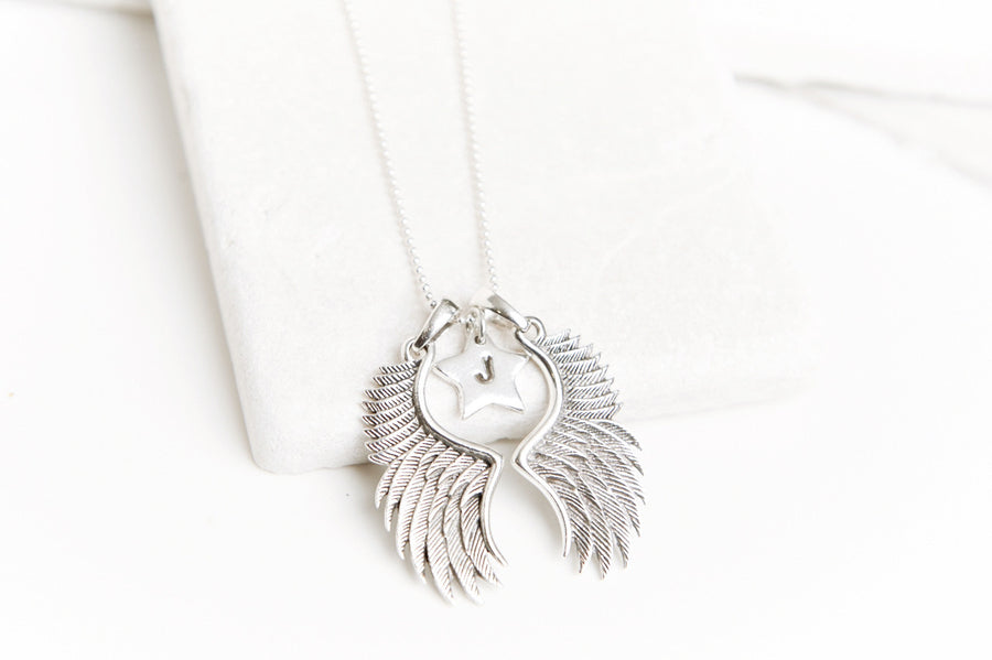 Angel wings and charms