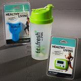 Jaxx Fitness Value Set with Shaker Cup, Pedometer, and Body Tape Measure