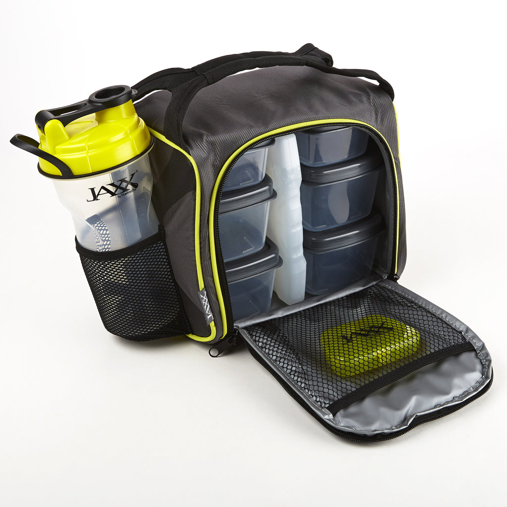 Jaxx FitPak Meal Prep Bag with Portion Control Containers