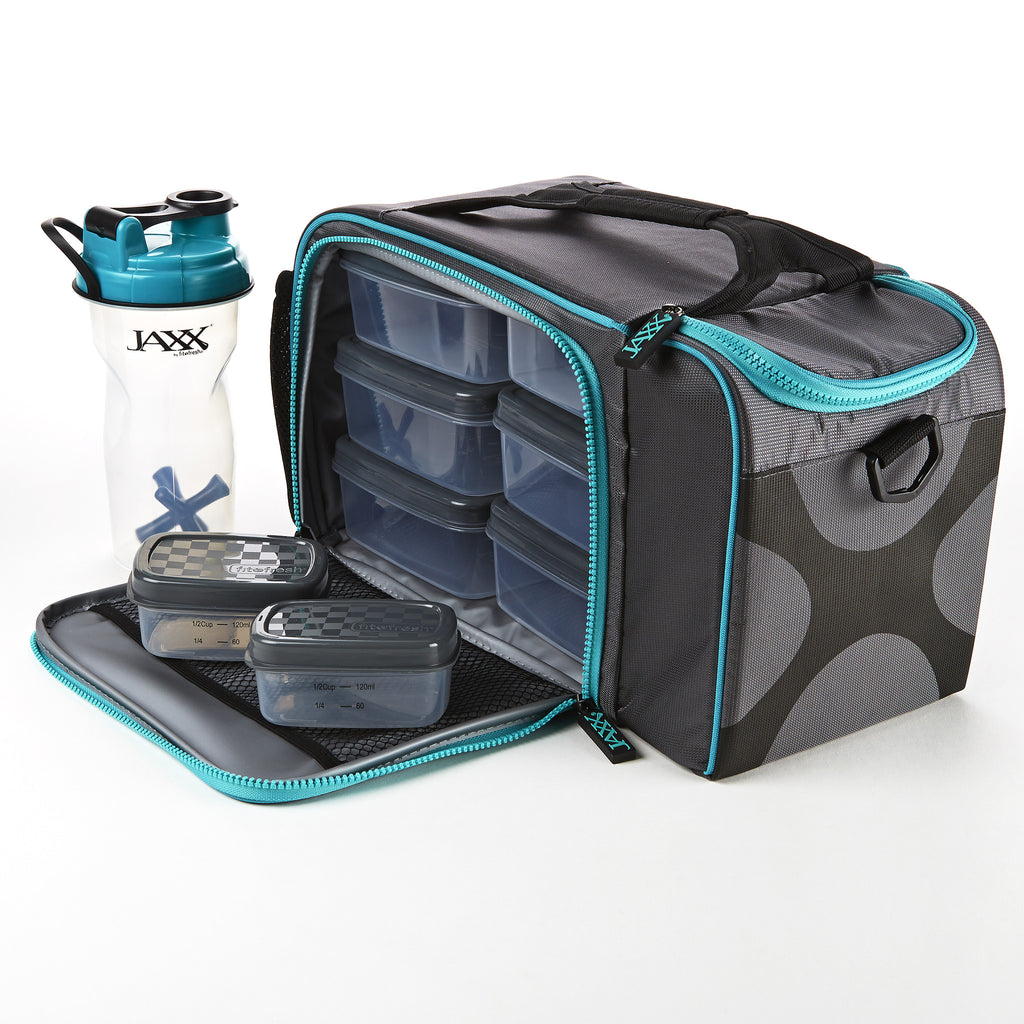 6a78be2523d9 ... Jaxx FitPak XL Meal Prep Bag with Portion Control Containers ...