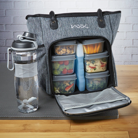 Jaxx Backpack with Meal Prep Container Set and Shaker Cup