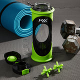 20 oz Jaxx Glass Bottle with Protective Sleeve