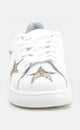 WHITE/GOLD LEATHER