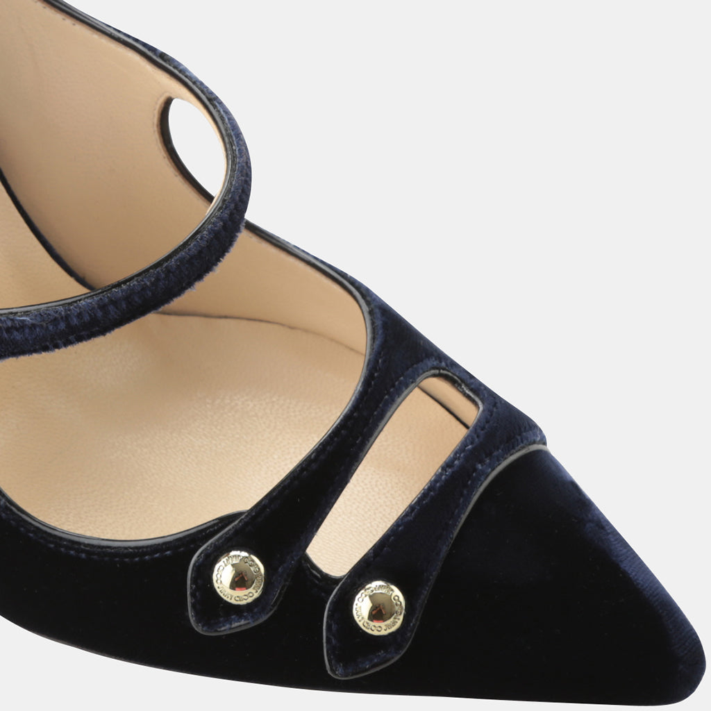 b4f7a837de1 Lacey 100 Velvet and Leather Point-Toe Pump