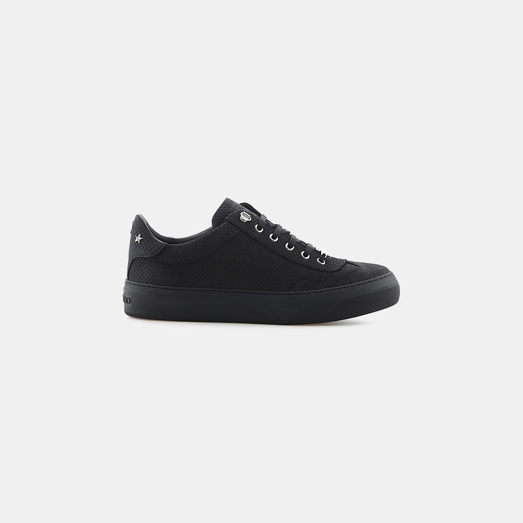 BLACK/STEEL POINT EMBOSSED NUBUCK/STARS