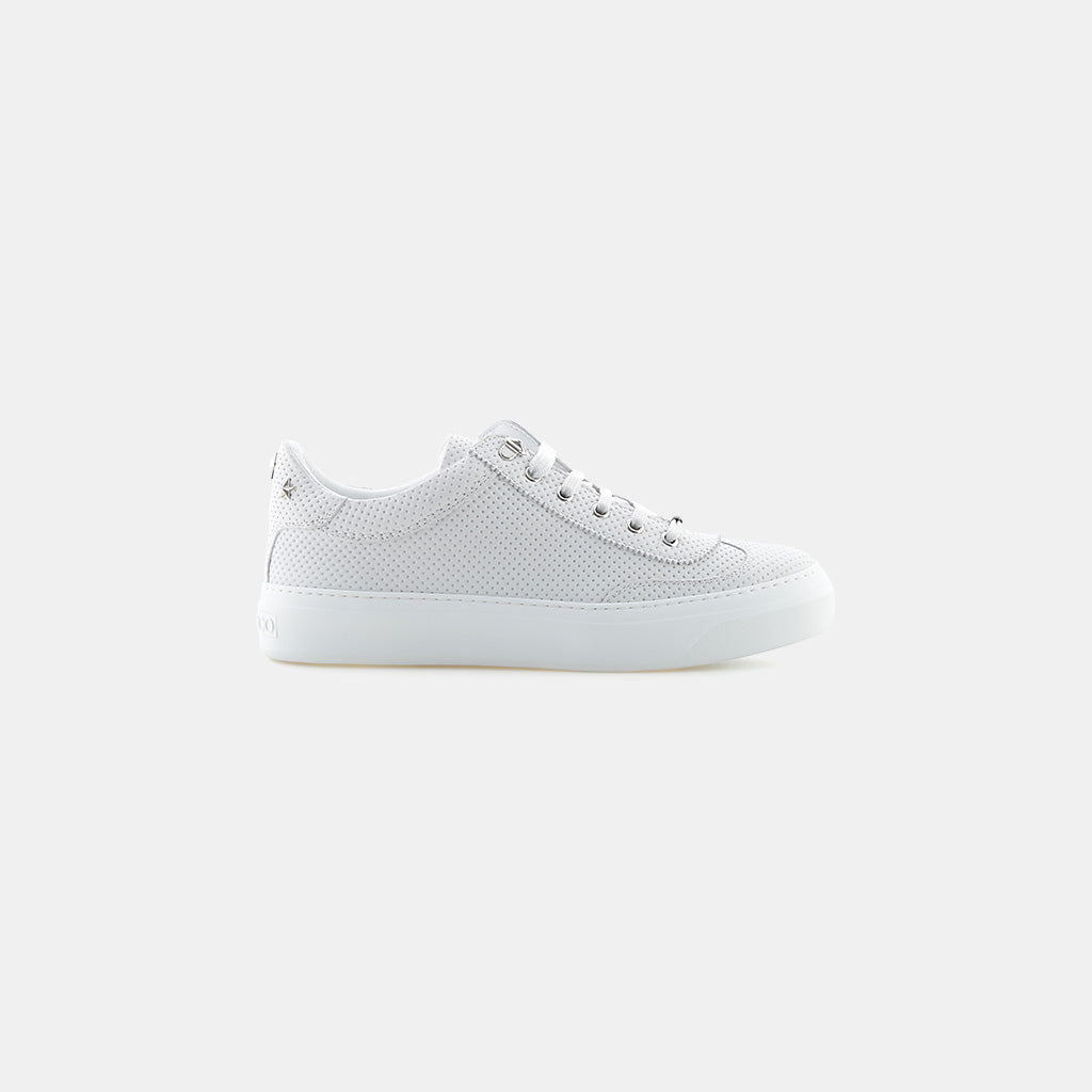 WHITE/STEEL POINT EMBOSSED NUBUCK/STARS