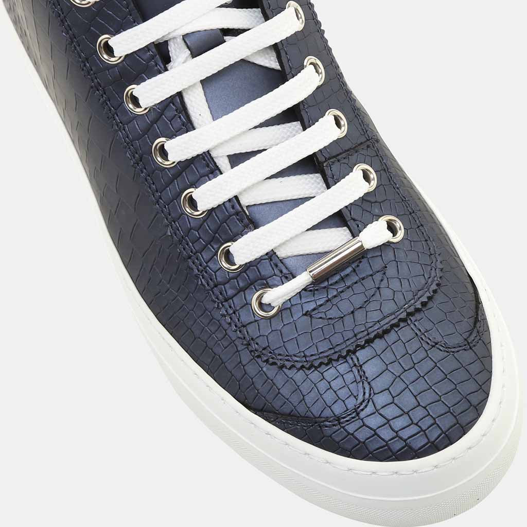 OFFICIAL NAVY METALLIC LEATHER