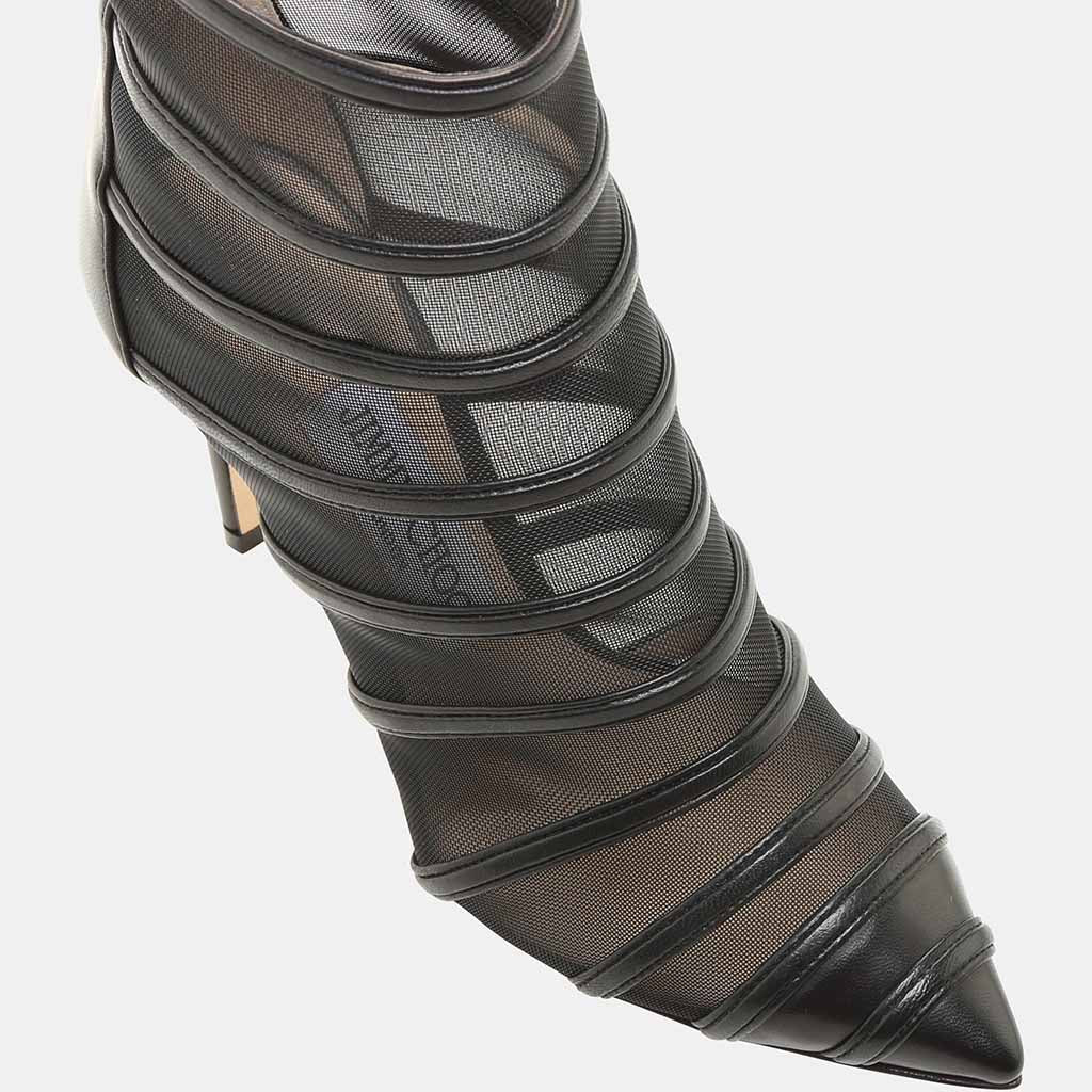 Belle 100  Leather and Mesh Bootie