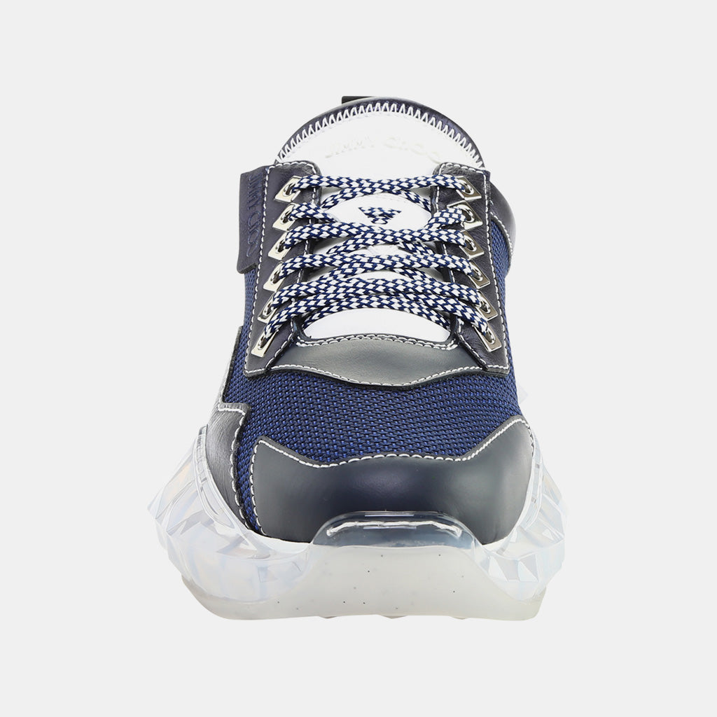 BRIT BLUE TECHNO MESH/LEATHER MIX