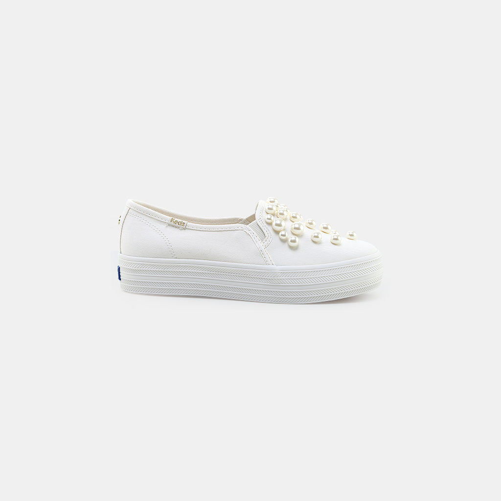 69eeeee46857 KEDS x kate spade new york Triple Decker Pearl Studs Sneakers ...