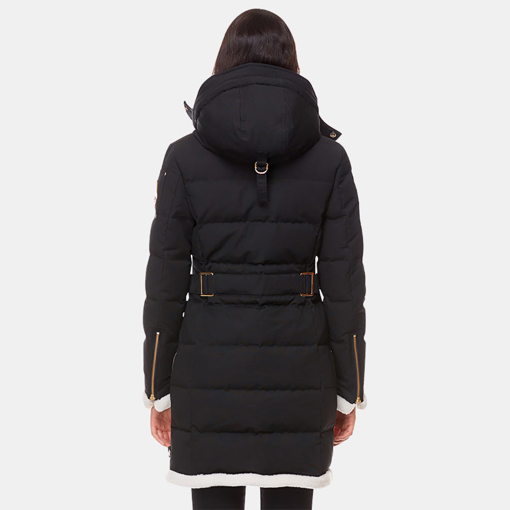 BLACK/IVORY SHEARLING