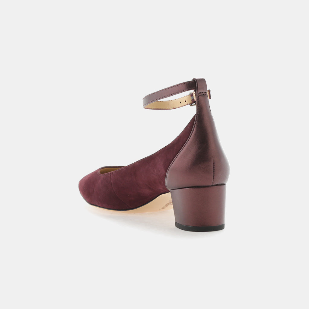 PORT WINE KID SUEDE LEATHER