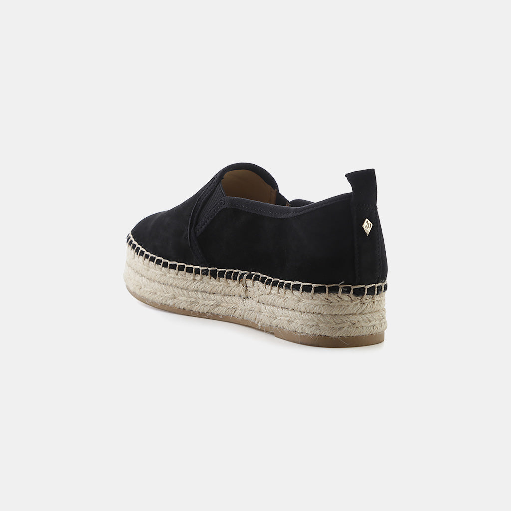 BLACK KID SUEDE LEATHER