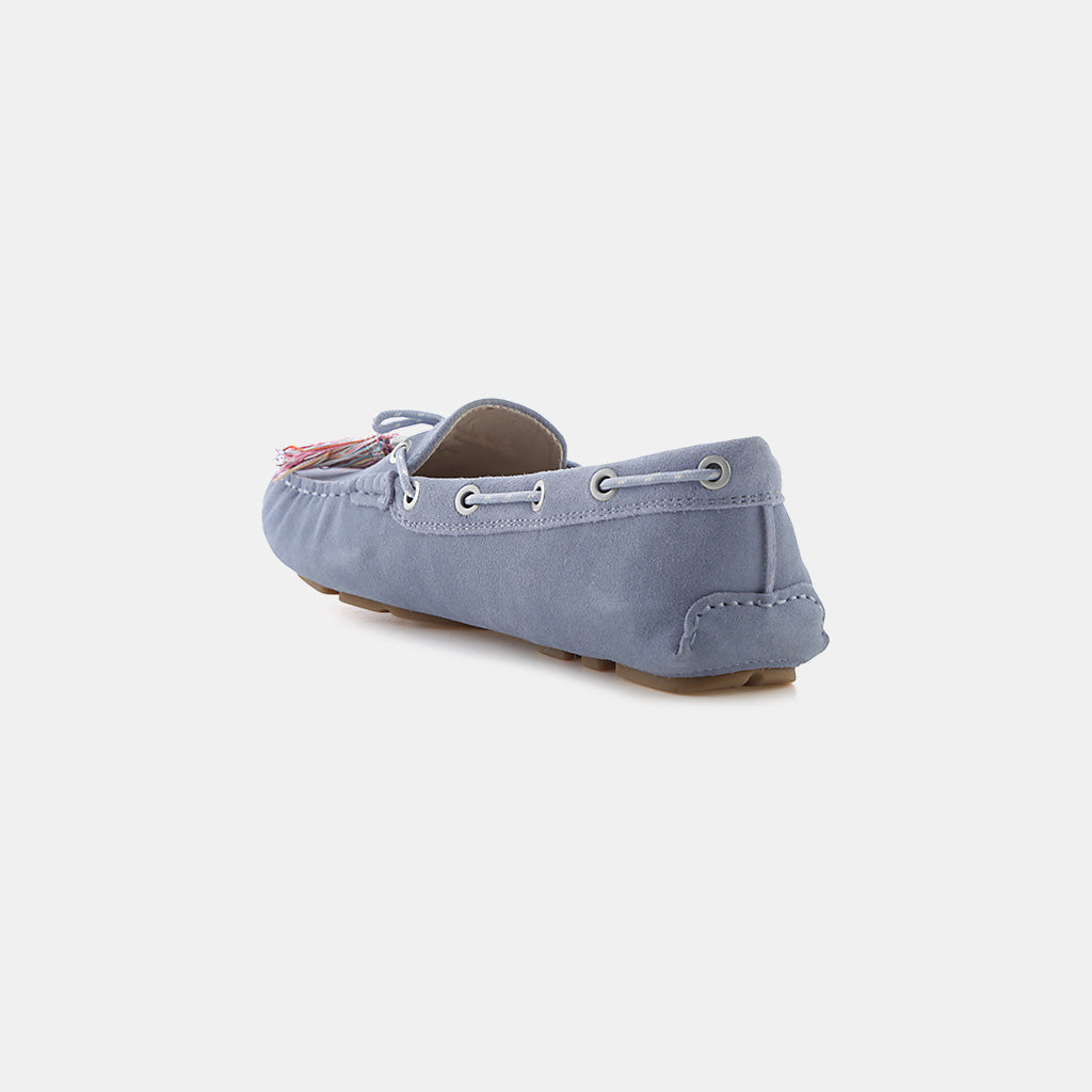 DUSTY BLUE VELUTTO SUEDE LEATHER