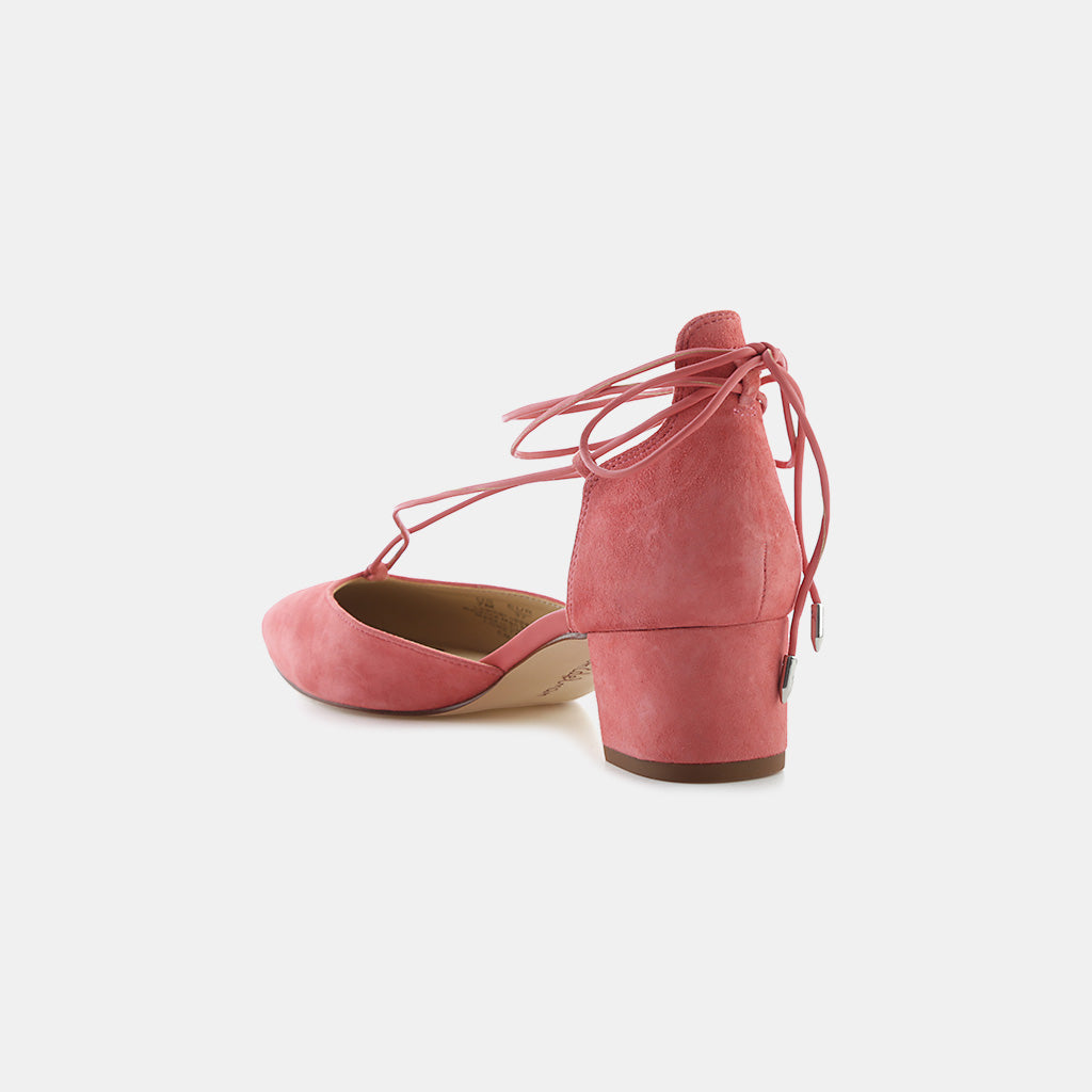HOT CORAL KID SUEDE LEATHER