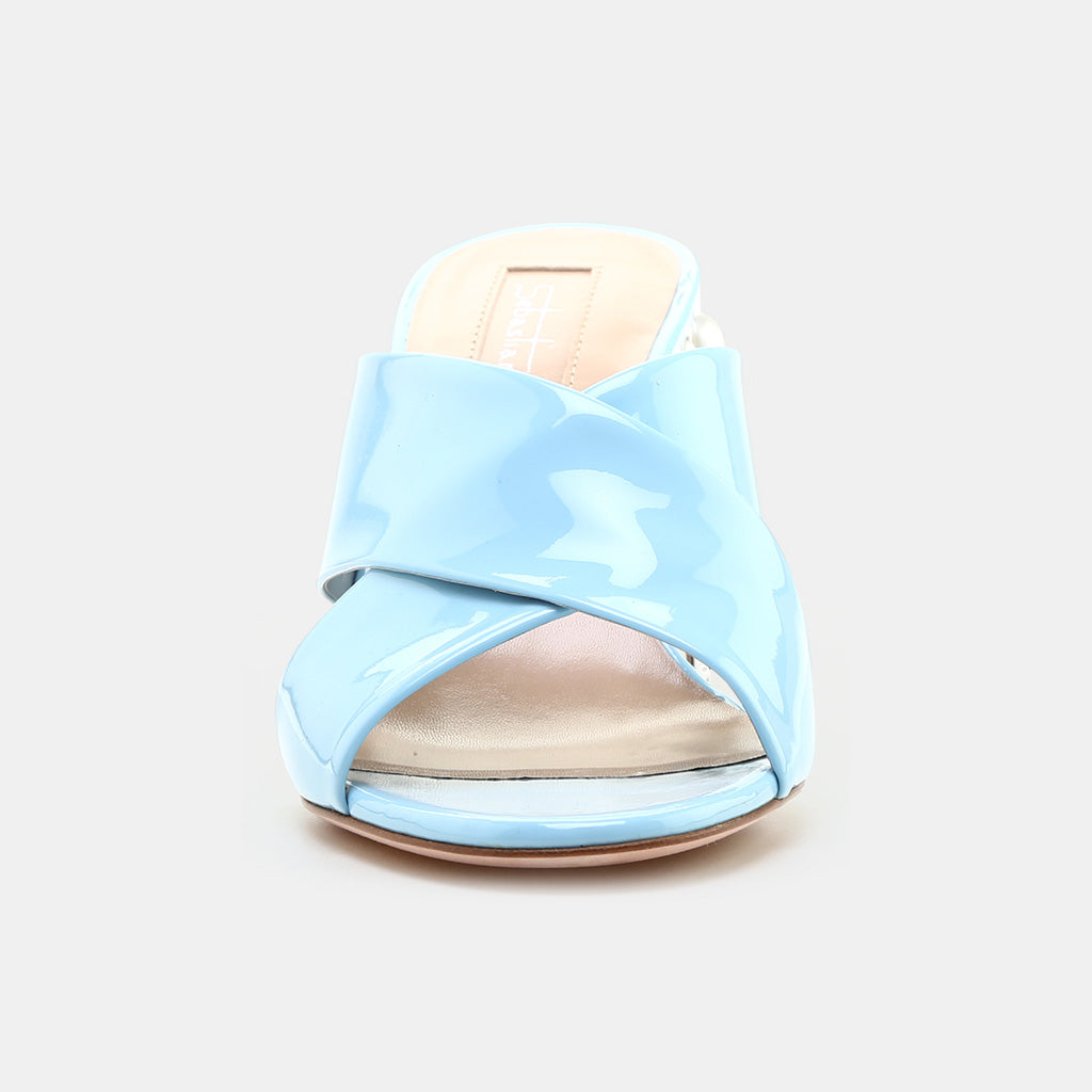 SKY BLUE PATENT LEATHER