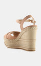 Sundry Suede Braided Wedge Sandal