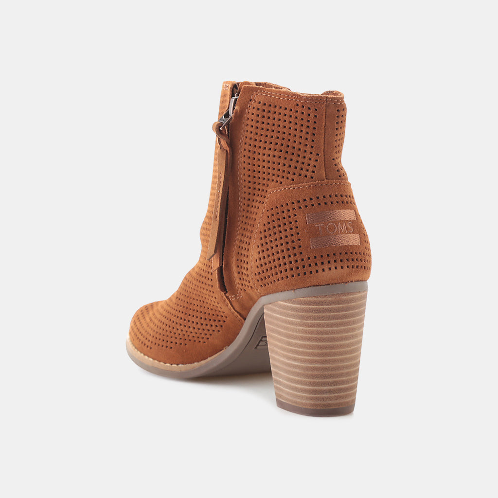 CINNAMON SUEDE PERFORATED