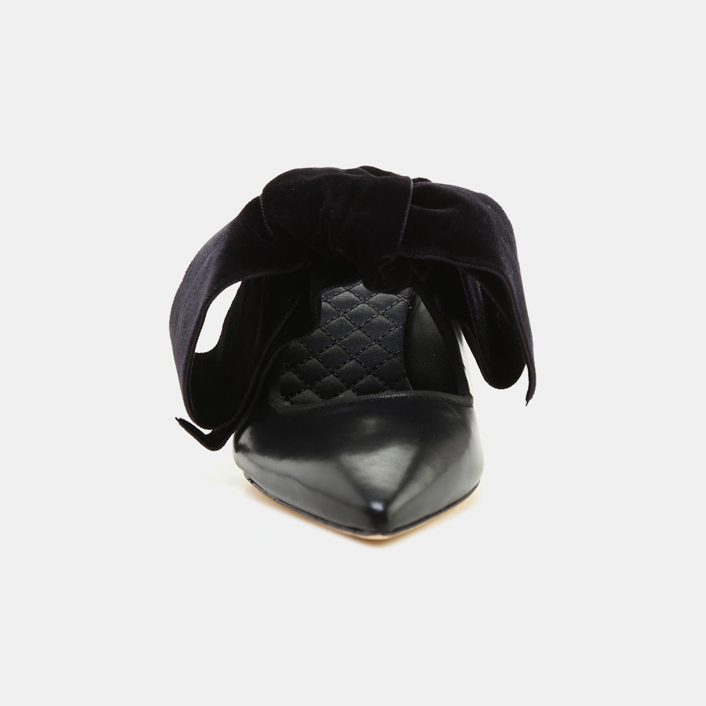 PERFECT BLACK/PERFECT BLACK CAPRINE LEATHER