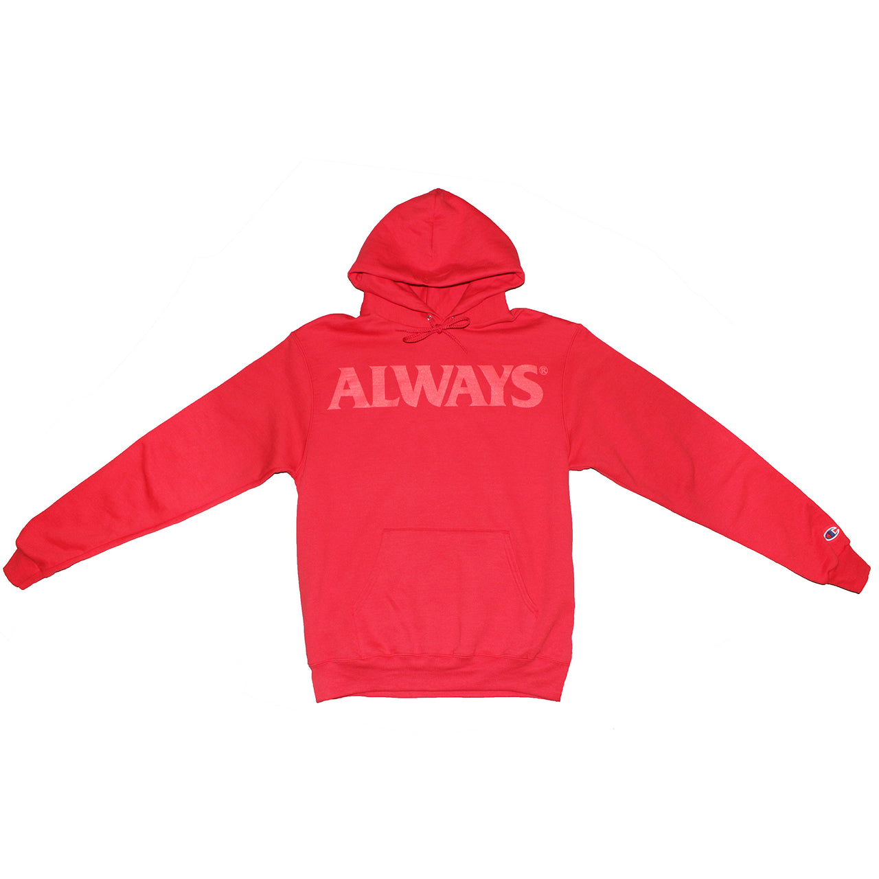 CHAMPION LOGO HOODIE (RED)
