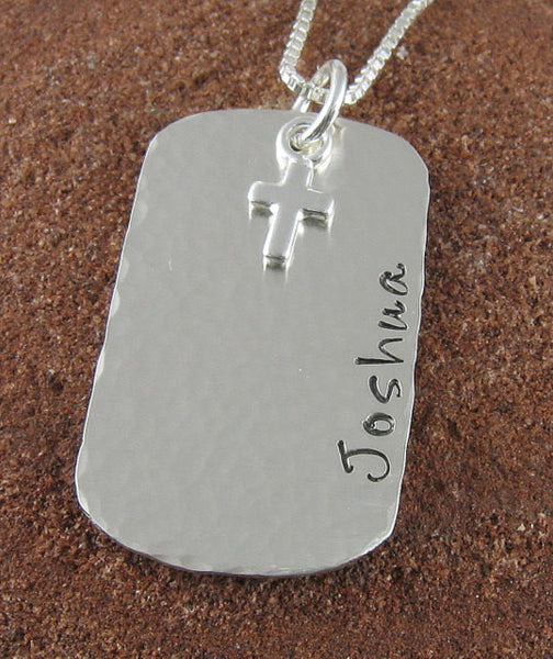 First Holy Communion Sterling Silver Pendant with Cross