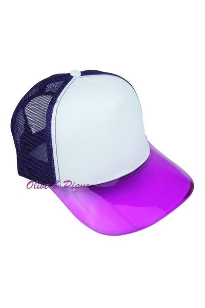 Transparent Brim Mesh Trucker Cap