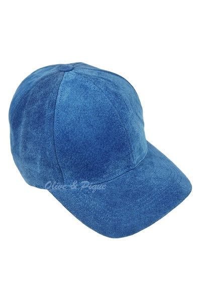 Genuine Suede Leather Baseball Cap