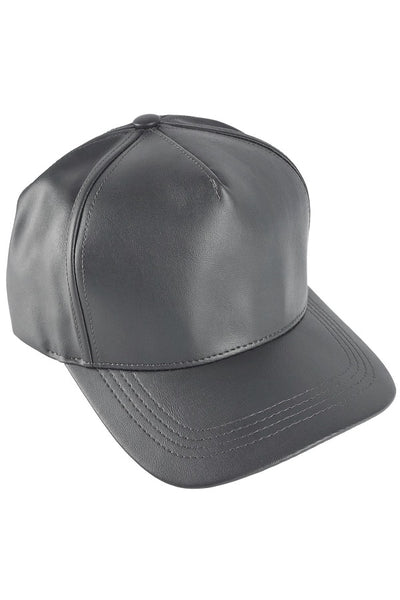 PU Leather Baseball Cap