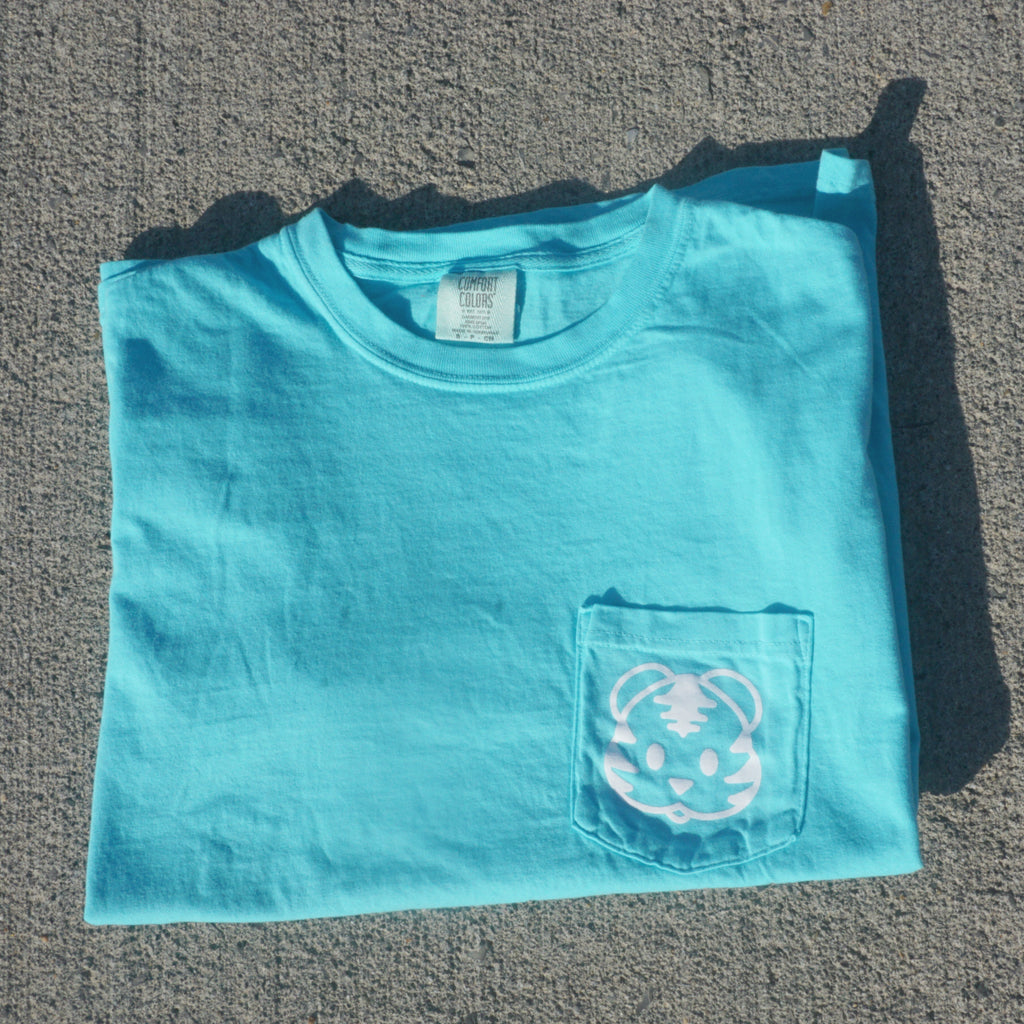 Lagoon blue cloud print tigris t-shirt Tiger shirts to help save the tigers