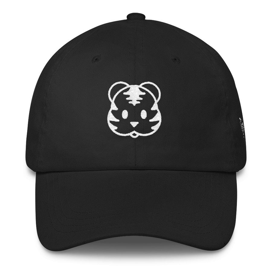 Black Dad Cap/Hat White Tigers