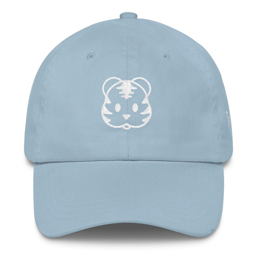 Light Blue Tigris Dad Cap/Hat Tiger skin,bone, wine Siberian Tiger