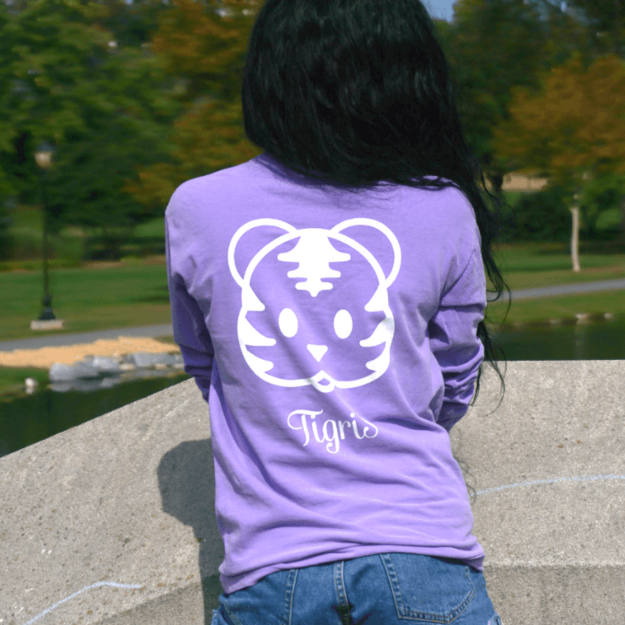 Violet Long Sleeve Tiger Shirt to help save the tigers,lions,cheetahs,ocean
