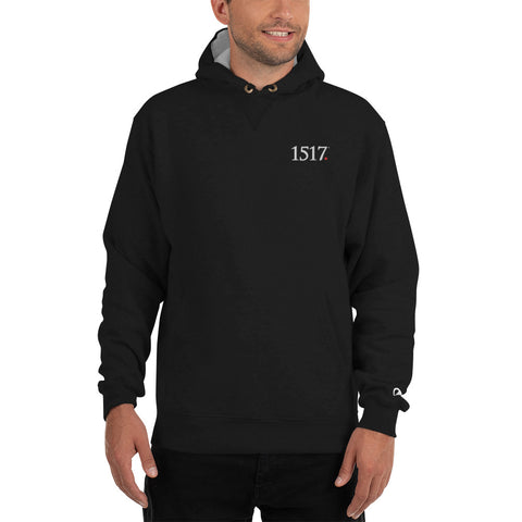 1517 Men's Hoodie, Dark - Embroidered Logo