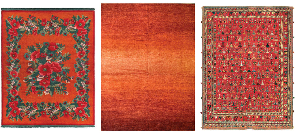 3 red rugs