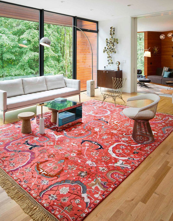 Room with fresh red rug