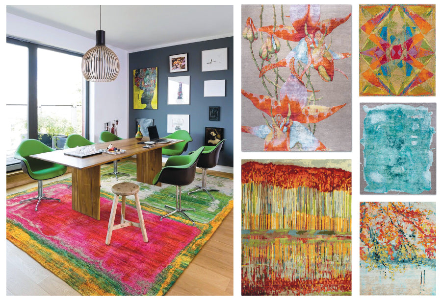 Colorful contemporary rugs