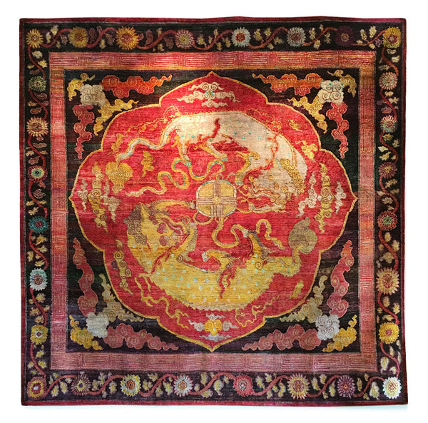 Sari Silk Dragon rug by Zollanvari
