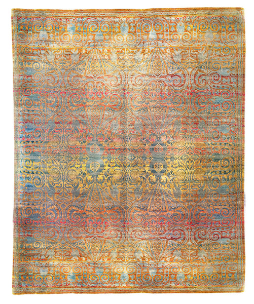 Wool and Sari Silk rug by Zollanvari