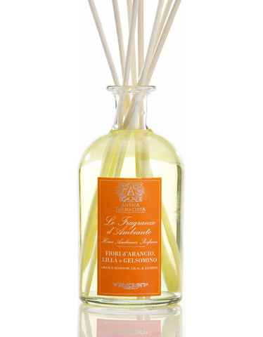 Orange Blossom, Lilac & Jasmine 250 ml Room Diffuser by Antica Farmacista
