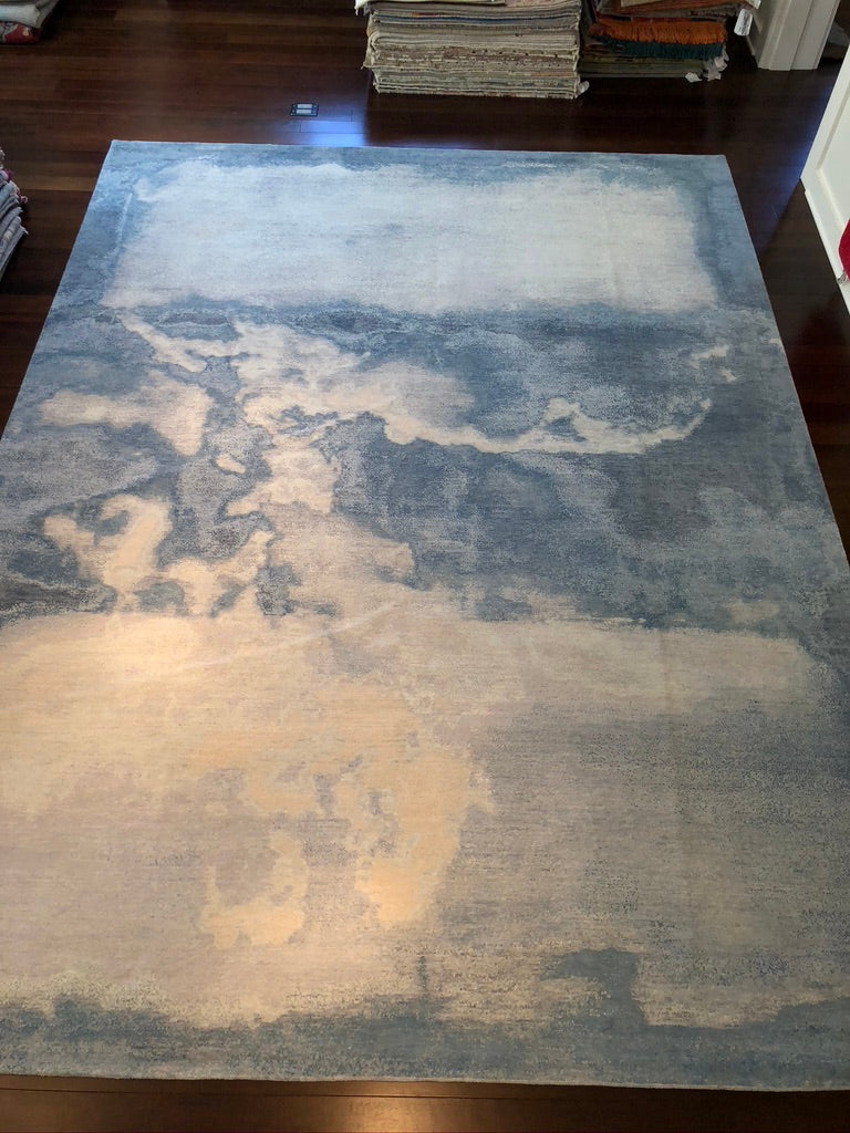 S 7627 Waterlily Clouds No. 15 Sandblast by Rug Star 9' x 12'