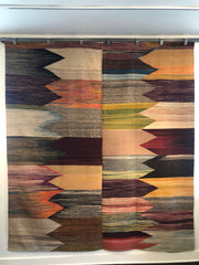 "7633 Turkish Kilim 7'3""x 8'"