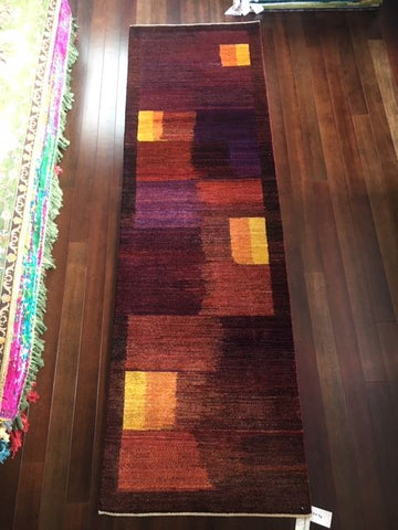 "7976 Amber and Wine Kashkuli Runner 2'9"" x 9'2"""